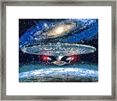The Enterprise Framed Print by Joe Misrasi