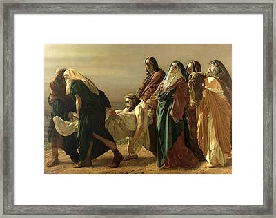 The Entombment, 1883 Framed Print