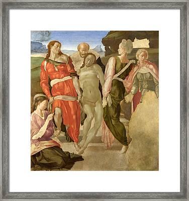 The Entombment Framed Print by Michelangelo Buonarroti
