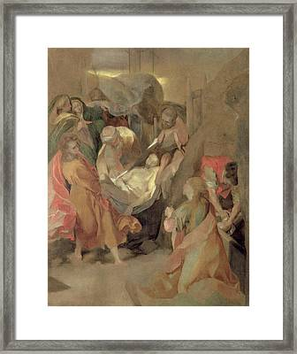 The Entombment Of Christ Framed Print by Barocci