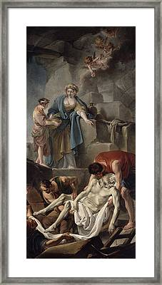 The Entombment Of St. Andrew, 1760 Oil On Canvas Framed Print