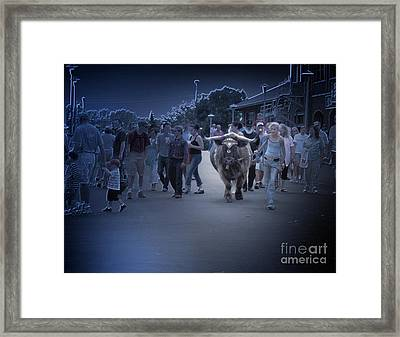 The Entourage Framed Print by The Stone Age