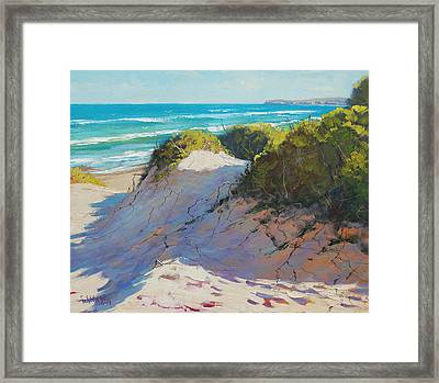 The Entrance Dunes Framed Print