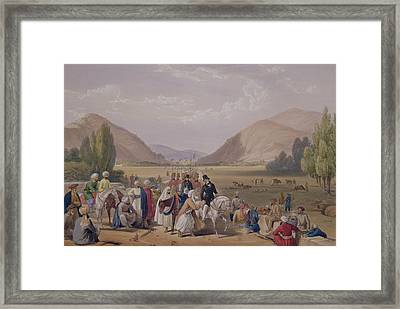 The Entrance Into Caubul Framed Print by James Atkinson