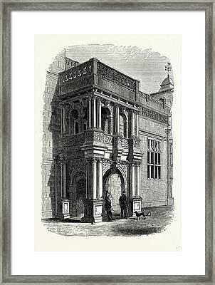 The Entrance Porch, West Front, Audley End Framed Print