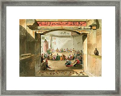 The Entrance To The Tower Of The Winds Framed Print by Edward Dodwell