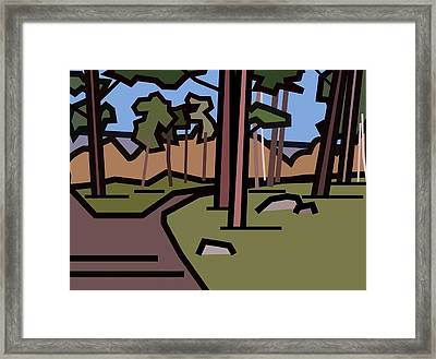 The Entrance To The Wood. Framed Print by Kenneth North