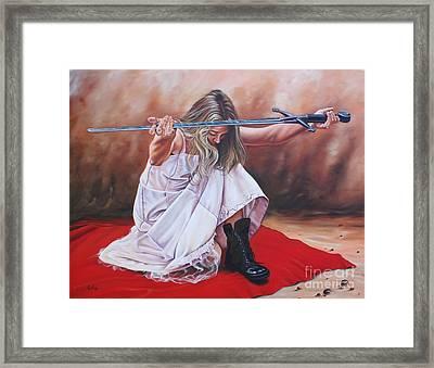 The Entrusted Sword Framed Print