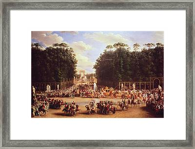 The Entry Of Napoleon And Marie-louise Into The Tuileries Gardens On The Day Of Their Wedding, 2nd Framed Print by Etienne-Barthelemy Garnier