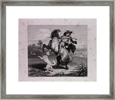 The Envious Horse Framed Print by English School