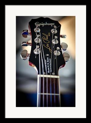 The Epiphone Les Paul Guitars Framed Prints
