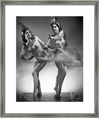 The Epler Sisters Framed Print by Underwood Archives