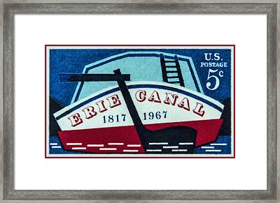 The Erie Canal Stamp Framed Print
