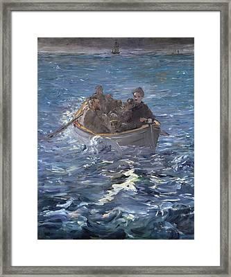 The Escape Of Henri De Rochefort Framed Print by Edouard Manet