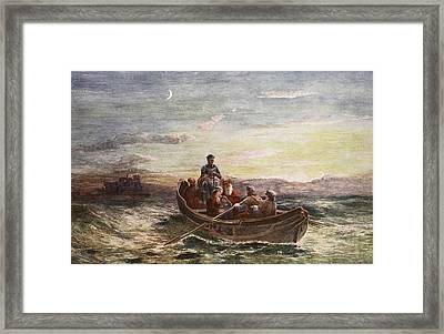 The Escape Of Mary Queen Of Scots Framed Print