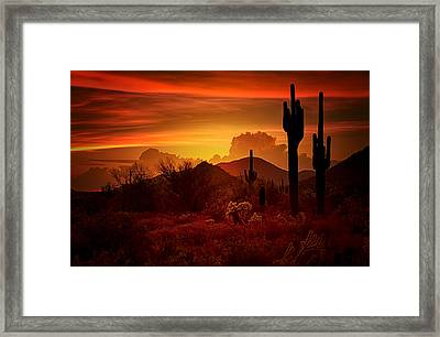 The Essence Of The Southwest Framed Print by Saija  Lehtonen