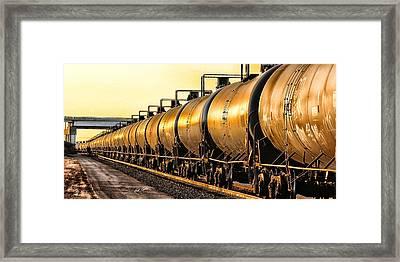 The Ethanol Train Framed Print