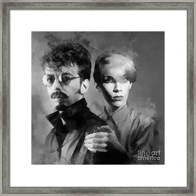 The Eurythmics Framed Print by Paulette B Wright