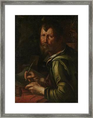The Evangelist Saint Luke, Joachim Wtewael Framed Print