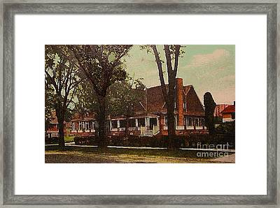 The Evanston Club In Evanston Il In 1910 Framed Print by Dwight Goss