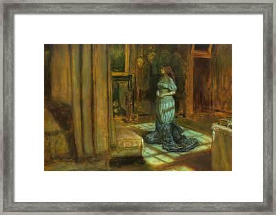 The Eve Of St Agnes Framed Print by John Everett Millais