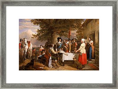 The Eve Of The Battle Of Edge Hill Framed Print by Celestial Images