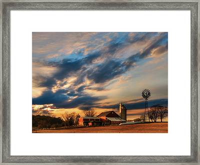The Evening Breeze Framed Print by Lori Deiter