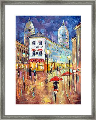 The Evening Lights Of Paris Framed Print