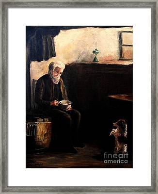 The Evening Meal Framed Print by Hazel Holland