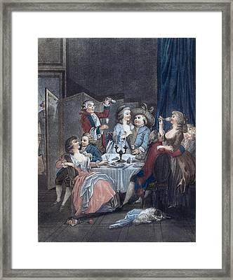The Evening Meal, Men, Women, Food And Drink, Liszt Gourmet Framed Print