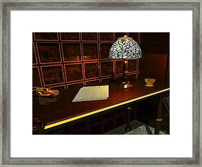 The Evening News Framed Print by John Pangia