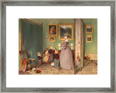 The Evening Prayer 1839 Framed Print by Mountain Dreams