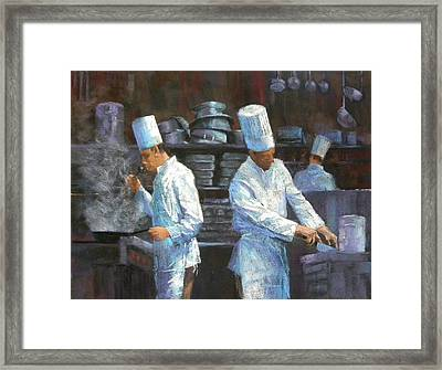 The Evening Shift Framed Print by Jackie Simmonds