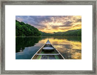 The Evening Show Framed Print
