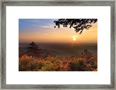The Evening Star Framed Print by Debra and Dave Vanderlaan