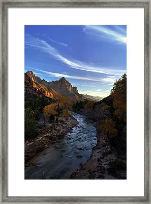 The Evening Watchman Framed Print