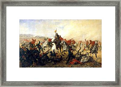 The Event At The Village Telishe Framed Print by Victor Mazurovsky