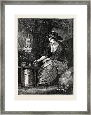 The Evictions At Milk Fair Framed Print by English School