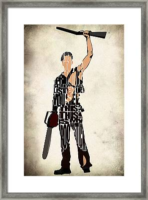 The Evil Dead - Bruce Campbell Framed Print