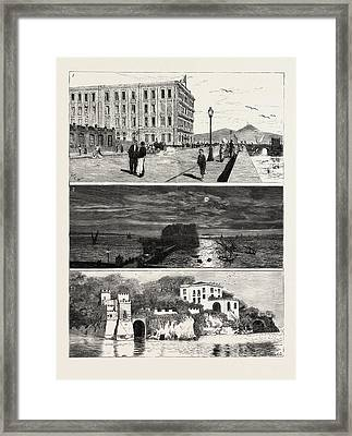 The Ex Khedive Of Egypt At Naples, Italy Framed Print