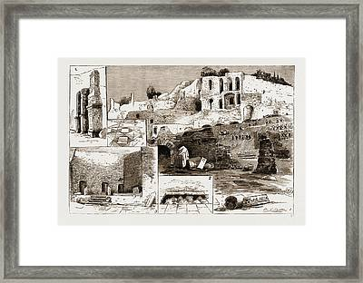 The Excavations In Rome Discovery Of The House Framed Print by Litz Collection