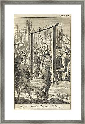 The Execution In 1718 Of Stede Bonnet Framed Print by British Library