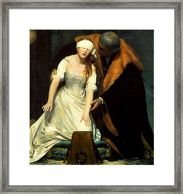 The Execution Of Lady Jane Grey Framed Print by Paul  Delaroche