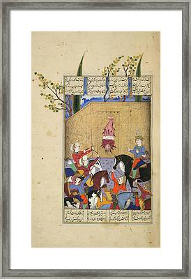 The Execution Of Mazdak Framed Print by British Library