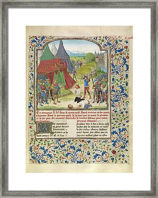 The Execution Of Philotas Master Of The Jardin De Vertueuse Framed Print by Litz Collection