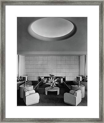 The Executive Lounge At The Ford Exposition Framed Print by Robert M. Damora