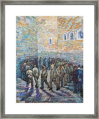 The Exercise Yard Framed Print by Vincent Van Gogh