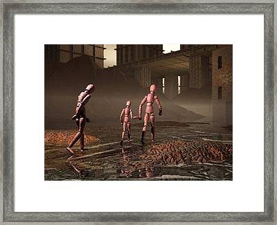 Framed Print featuring the digital art The Exiles Sojourn by John Alexander