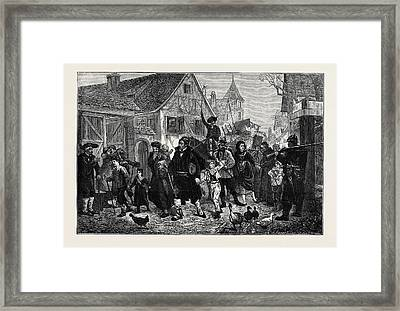 The Exodus From Alsace Framed Print by English School