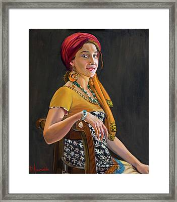 The Exotic Girl Framed Print by Dominique Amendola